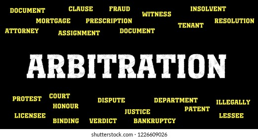 arbitration Words and Tags Cloud.