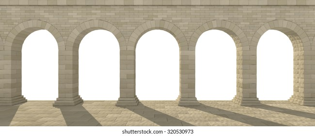 arch on a white background