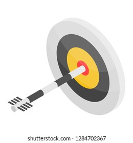 Arch target icon. Isometric of arch target icon for web design isolated on white background