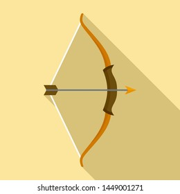 Archer bow icon. Flat illustration of archer bow icon for web design