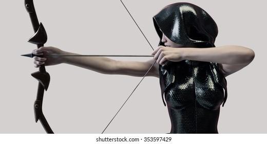 archer woman futuristic
