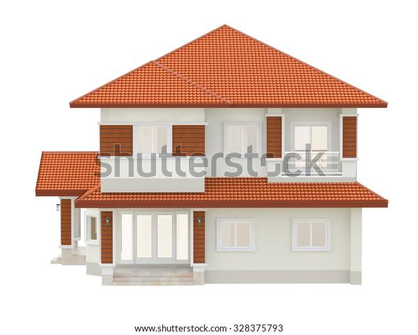 Architect 3d Rendering Model Exterior Modern Stock Illustration 328375793