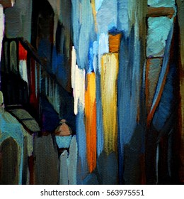 architectural abstract painting, painting, illustration