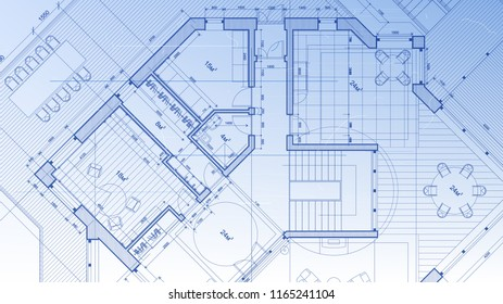 modern architecture blueprints commercial building architectural blueprint the plan of modern residential building with layout architectural plan abstract blueprint modern stock