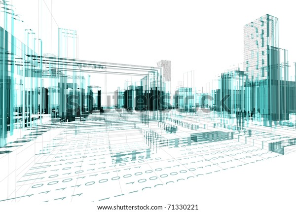 architectural design of modern city