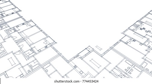Vector Engineering Illustration Mechanical Engineering Drawing Stock