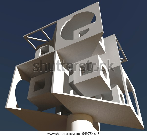 Architectural Fantasy Abstract Art Architecture Rendering