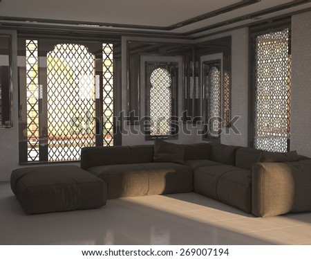 Royalty Free Stock Illustration Of Architectural Interior Sitting