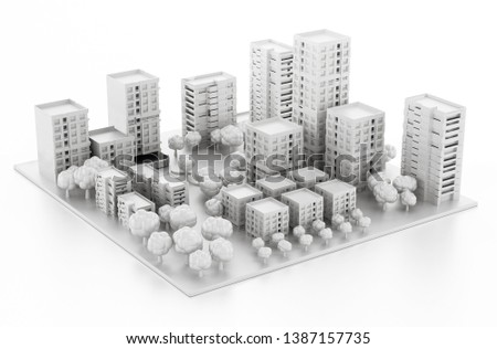 Architectural Model Printed 3 D Printer 3 D Stock