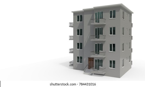 An architectural project that's under construction, 3d render