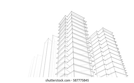 Royalty Free Stock Illustration Of Architecture Abstract 3 D