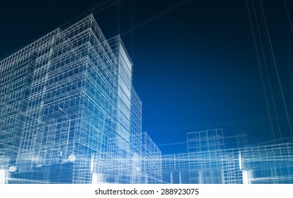 architecture abstract blueprint