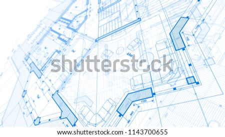 Image of: Architecture Design Blueprint Intended Architecture Design Blueprint Plan Illustration Of Modern Residential Building Technology Design Blueprint Plan Illustration Stock