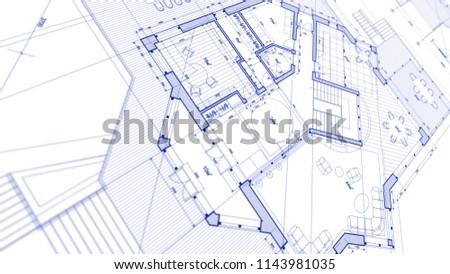 Architecture Design Blueprint Inside Architecture Design Blueprint Plan Illustration Of Modern Residential Building Technology Design Blueprint Plan Illustration Stock