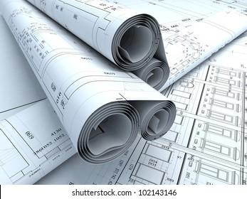 Architecture plans in auto cad