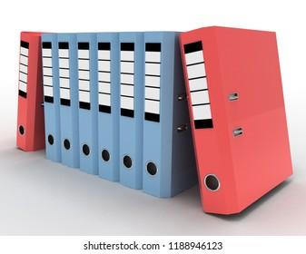 archive folders concept. 3d illustration
