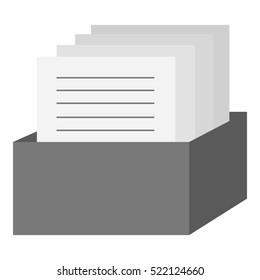 Archive icon monochrome. Single education icon from the big school, university monochrome.