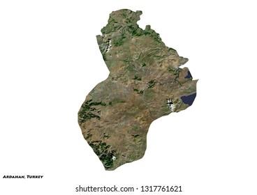 Ardahan, Turkey Map (3D illustration)