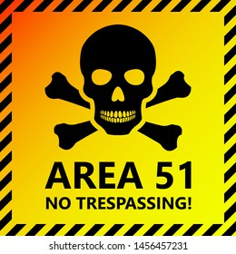 Area 51 Sign No Trespassing Illustration
