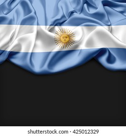 Argentina Abstract flag and black background
