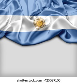 Argentina Abstract flag and Plain background