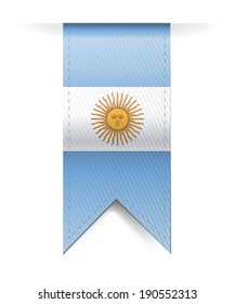 argentina flag banner illustration design over a white background