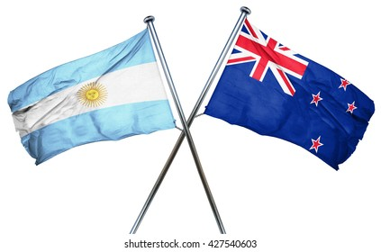 Argentina flag  combined with new zealand flag