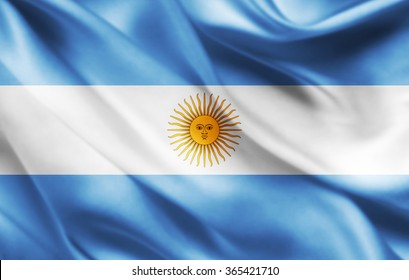 Argentina flag of silk