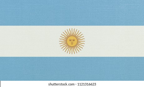 Argentina flag waving in the wind. 3D illustration of wave and fabric Argentina flag.