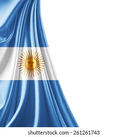 Argentina flag and white background