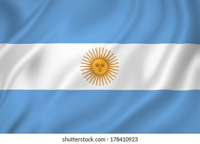 Argentina national flag background texture.