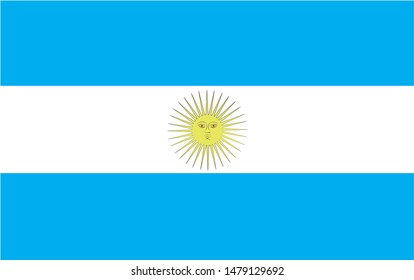 Argentina national flag Official state symbol of country.