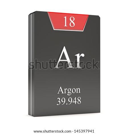 Argon Ar 18 Periodic Table Stock Illustration 145397941 Shutterstock