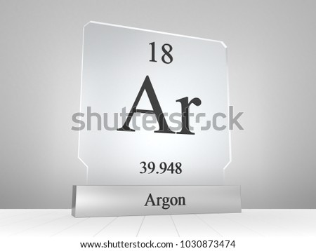 Argon Symbol On Modern Glass Metal Stock Illustration 1030873474