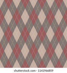 Argyle pattern. Simple geometric all over plaid motif for fabric textile, scrap paper. Design of classic english ornament. Decorative printing block. Look the same 1237655203.