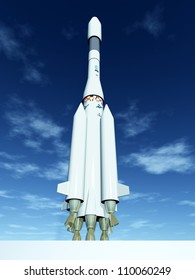 Ariane Rocket Computer generated 3D illustration