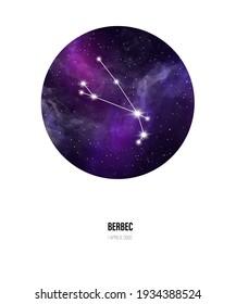 Aries zodiac sign constellation star map sky