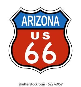 Arizona Route US 66 Sign