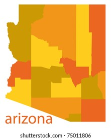 arizona state detailed map