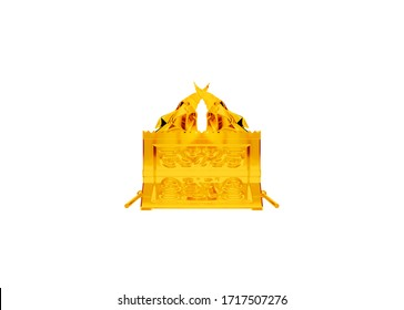 Ark of the covenant and mercy seat Bible sanctuary closed 3d rendering religious illustration 6 of 6