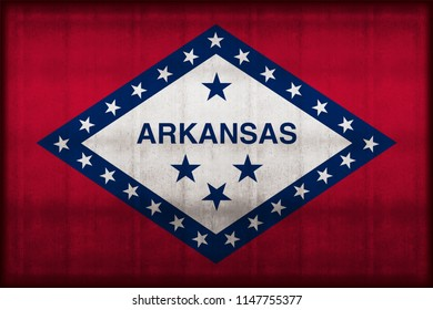 Arkansas rusty flag illustration. Usable for background and texture.