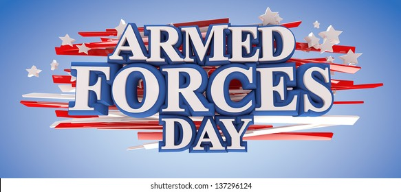 Armed Forces Day with clipping path included for easy selection.