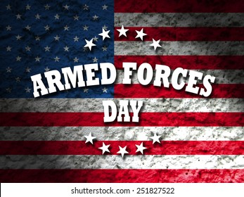 armed forces day greeting card american flag grunge background
