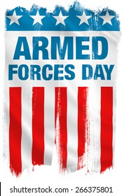 Armed Forces Day USA patriotic design.