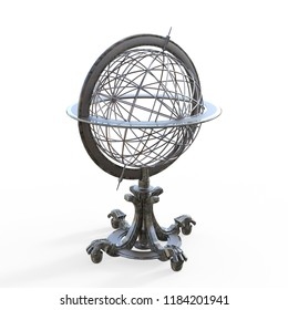 Armillary sphere. The antique equipment for astronomical observations