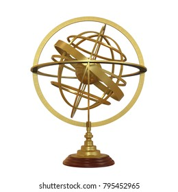 Armillary Sphere Isolated. 3D rendering