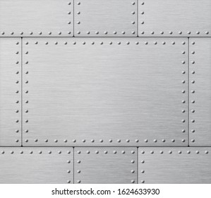 armor plates industrial metal background 3d illustration