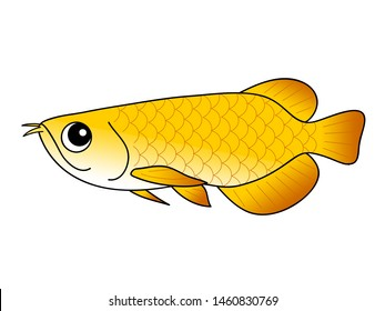 Arowana Character Illustration clip art