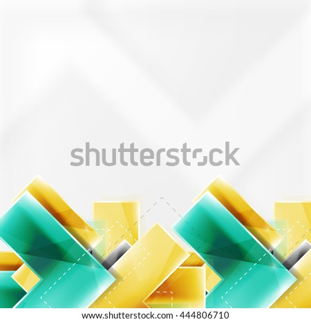 Arrow Background Web Brochure Internet Flyer Wallpaper Or Cover Poster Design Geometric