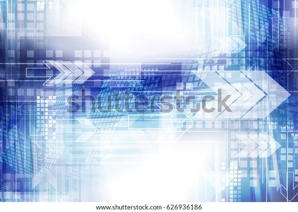 Arrow computer network digital communication. Abstract technology concept background.